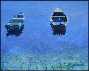 Mazury III, dwie łódki
