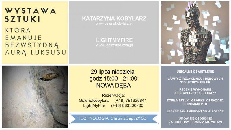 """Wernisaż pt. """"Love ART"""" – Katarzyna Kobylarz i Light My Fire"""